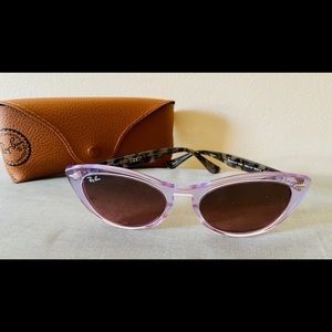 Ray Ban cat-eyed violet sunglasses